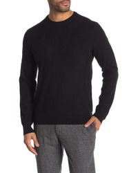 Perry Ellis - Patterned Rib Crew Neck Sweater - Lyst