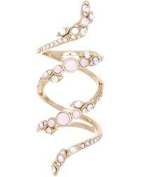 Jenny Packham - Pave Crystal & Glass Vine Ring - Size 7 - Lyst
