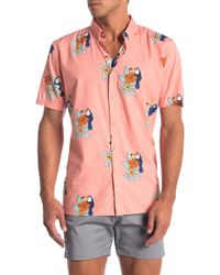 Barney Cools Toucan Short Sleeve Button - Down Shirt - Pink