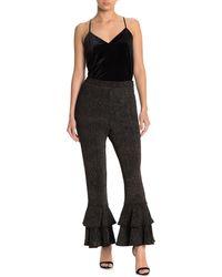 Endless Rose Shimmer Fabric Pants - Black