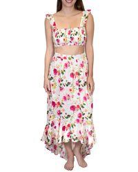 Nanette Lepore Shayla High Low Ruffle Skirt - White