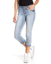 Kut From The Kloth - Bardot Crop Skinny Boyfriend Jeans - Lyst