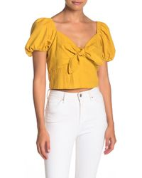 6f7669040b781e Band Of Gypsies Dashiki Off The Shoulder Top in Natural - Lyst
