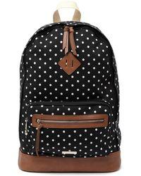 Madden Girl Polka-dot School Backpack - Black