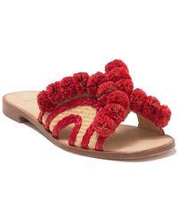 Joie Paden Pompom Slide Sandal - Red