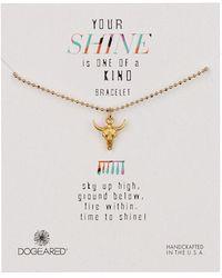 Dogeared - 14k Gold Vermeil Your Shine Bull Skull Bracelet - Lyst