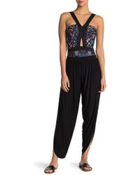 Laundry by Shelli Segal - Draped Side Slit Cover-up Pants - Lyst