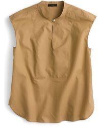J.Crew - Cotton Poplin Cap Sleeve Top - Lyst