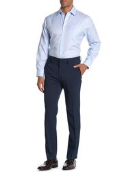 Kenneth Cole Reaction Heather Tic Stretch Suit Separates Pants - Blue