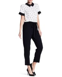 Cece by Cynthia Steffe - Moss Crepe Tie-front Relaxed Tapered Trousers - Lyst