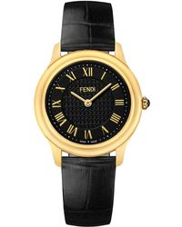 Fendi - Women's Classico Croc-embossed Leather Strap Watch, 40mm - Lyst
