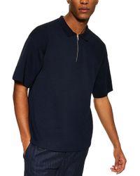 TOPMAN - Sweater Knit Polo - Lyst