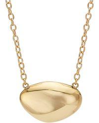 Soko Dainty Brass Sabi Necklace - Metallic