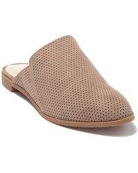Kenneth Cole Reaction Ruthie Perforated Suede Mule Flat - Brown