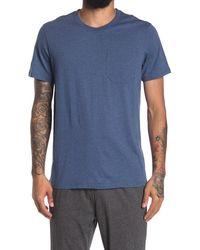 Daniel Buchler Heathered Crew Neck Pocket Lounge T-shirt - Blue