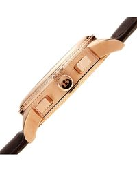 Bruno Magli Luna Piena Moonphase Embossed Leather Watch - Natural