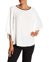 Pleione - Flutter Sleeve Blouse - Lyst