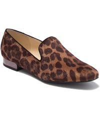 Nine West Lisette Faux Fur Leopard Print Loafer - Brown