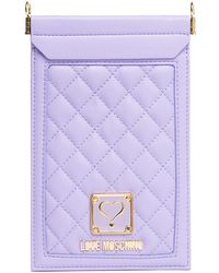 Love Moschino Quilted Cellphone Case - Purple