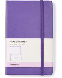 Moleskine - Bright Violet Classic Portfolio - Lyst
