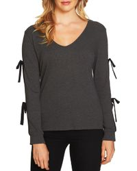 Cece by Cynthia Steffe - V-neck Ribbed Knit Top - Lyst