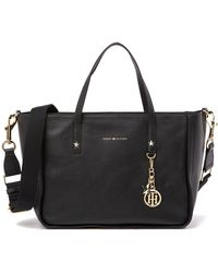 Tommy Hilfiger - City Faux Pebble Leather Tote - Lyst