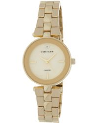 Anne Klein - Women's Round Case Gold-tone Bracelet Watch, 28mm - Lyst