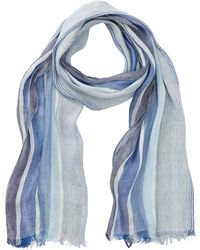 Tommy Bahama Striped Linen Blend Wrap Scarf - Blue