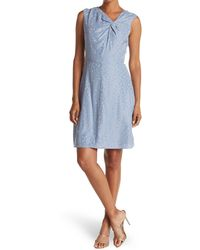TAILORED BY REBECCA TAYLOR Sleeveless Petal Fleur Dress - Blue