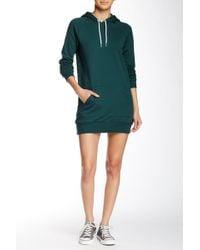 American Apparel - California Fleece Pullover Hoodie Dress - Lyst