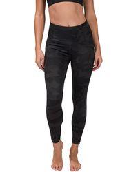 90 Degrees Lux Camo Full Length Leggings - Black