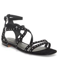 Rebecca Minkoff Maiara Studded Gladiator Sandal - Black