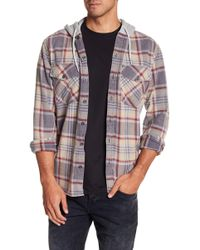 Quiksilver - Hooded Plaid Print Regular Fit Shirt - Lyst