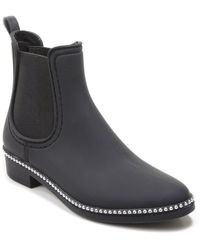 Catherine Malandrino Sirine Studded Rain Boot - Black