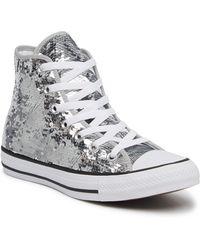 Converse - Sequined High Top Chuck Taylor All Star Sneaker (women) - Lyst