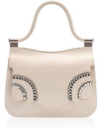 Thale Blanc Saffiano Leather Audrey Handbag - Multicolor