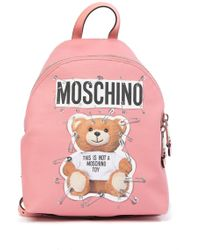 Moschino - Printed Graphic Backpack - Lyst