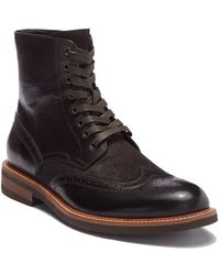 Kenneth Cole Reaction - Leather Wingtip Boot - Lyst
