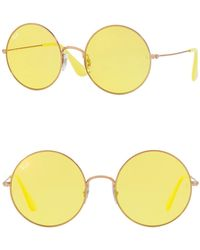 Ray-Ban - The Ja-jo 55mm Round Sunglasses - Lyst