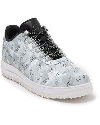 Nike Lunar Force 1 Low Duckboot Sneaker - Gray