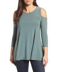 Chaus - Riveted Cold Shoulder Top - Lyst