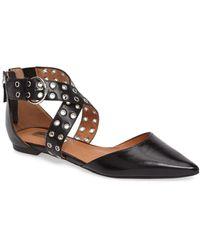 Halogen (r) Molly Pointy Toe Flat (women) - Black