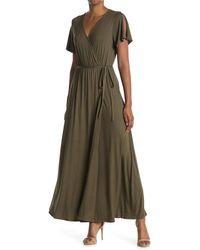West Kei - Knit Wrap Maxi Dress - Lyst