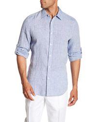 Perry Ellis - Linen Button Tab Regular Fit Shirt - Lyst