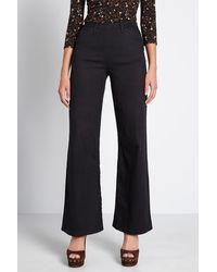 ModCloth Sleek Wide Leg Pants - Black