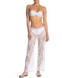 Pilyq - Floral Lace Pants - Lyst