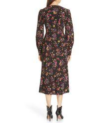 Veronica Beard Amber Silk Blend Midi Dress - Black