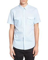 Calibrate - Slim Fit Print Short Sleeve Sport Shirt - Lyst