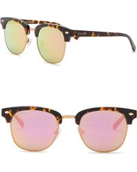 DIFF - Barry Metal Acetate 51mm Clubmaster Sunglasses - Lyst