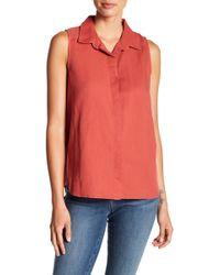NYDJ - Button Back Linen Blend Shirt - Lyst